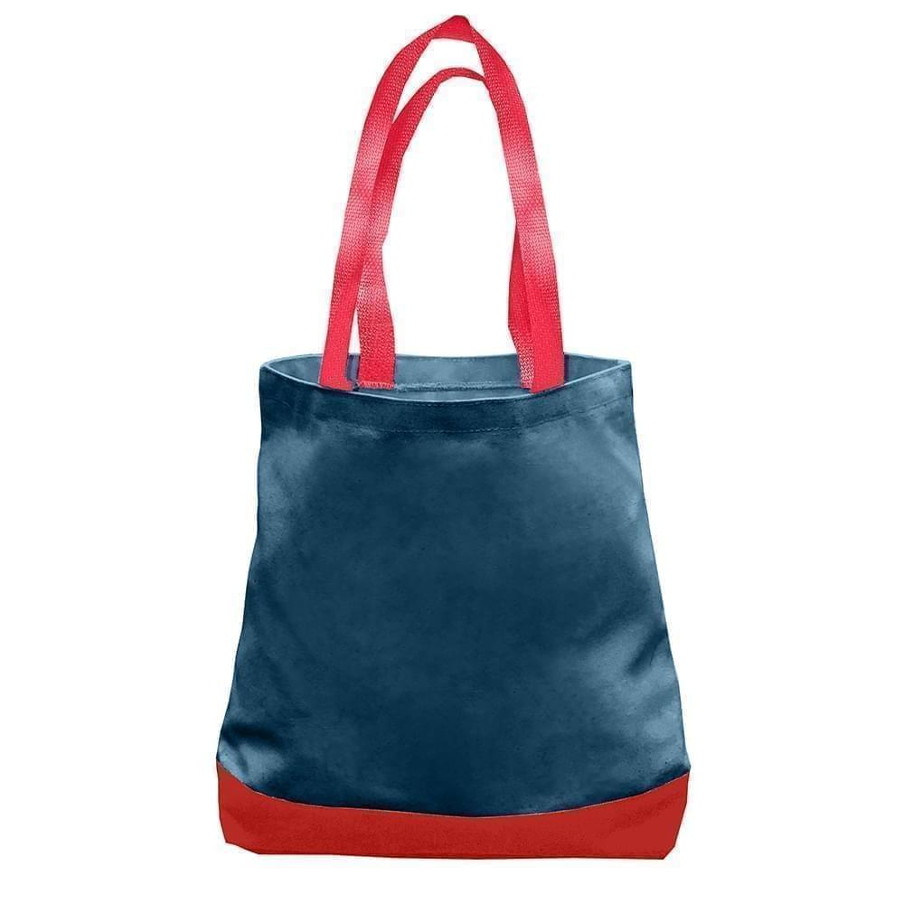 USA Made Duck Canvas Promo Boat Totes, Navy-Red, 7011000-AC2