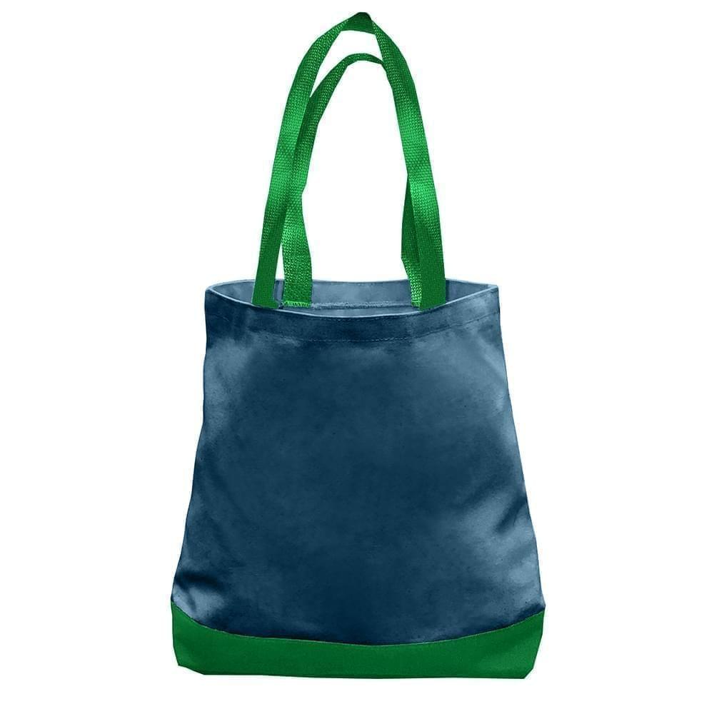 USA Made Duck Canvas Promo Boat Totes, Navy-Kelly, 7011000-ACW