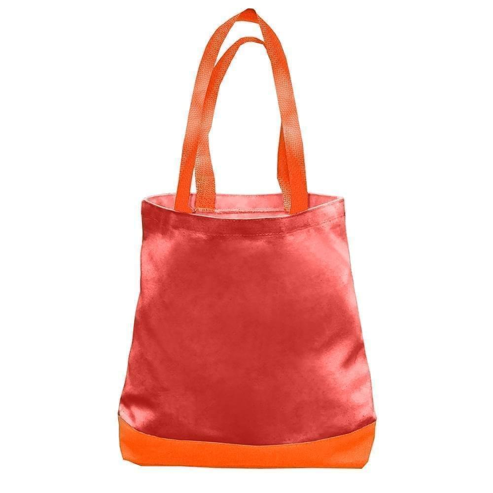 USA Made Duck Canvas Promo Boat Totes, Red-Orange, 7011000-AE0