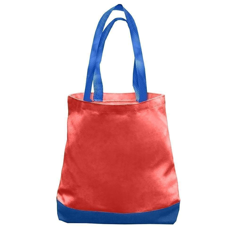 USA Made Duck Canvas Promo Boat Totes, Red-Royal, 7011000-AE3