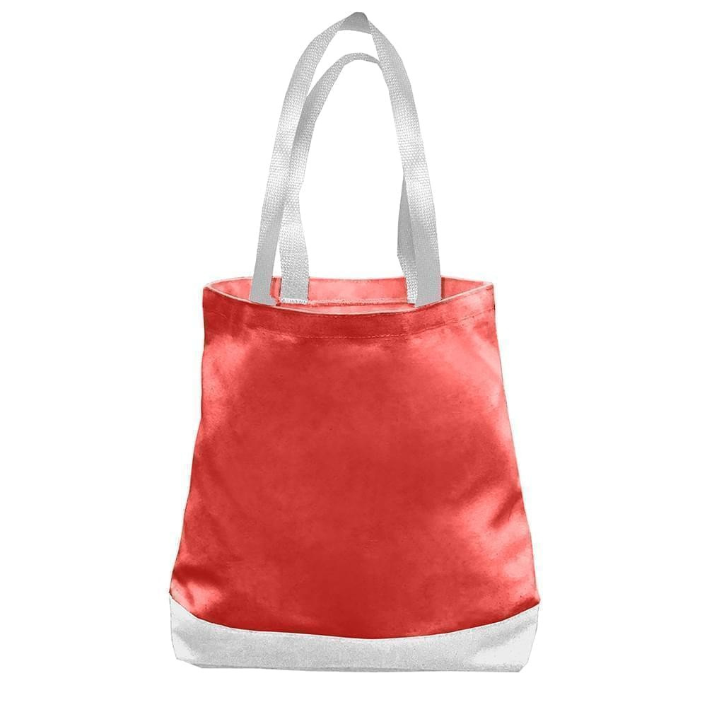 USA Made Duck Canvas Promo Boat Totes, Red-White, 7011000-AE4