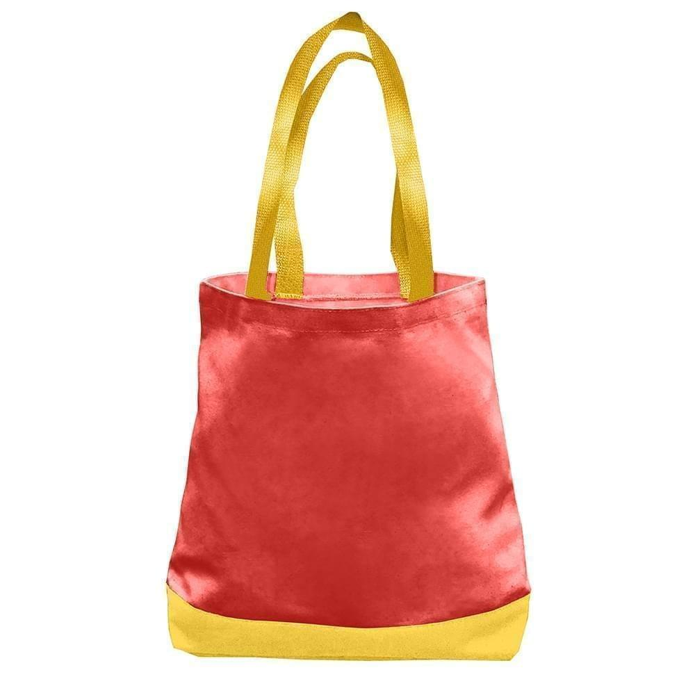 USA Made Duck Canvas Promo Boat Totes, Red-Gold, 7011000-AE5