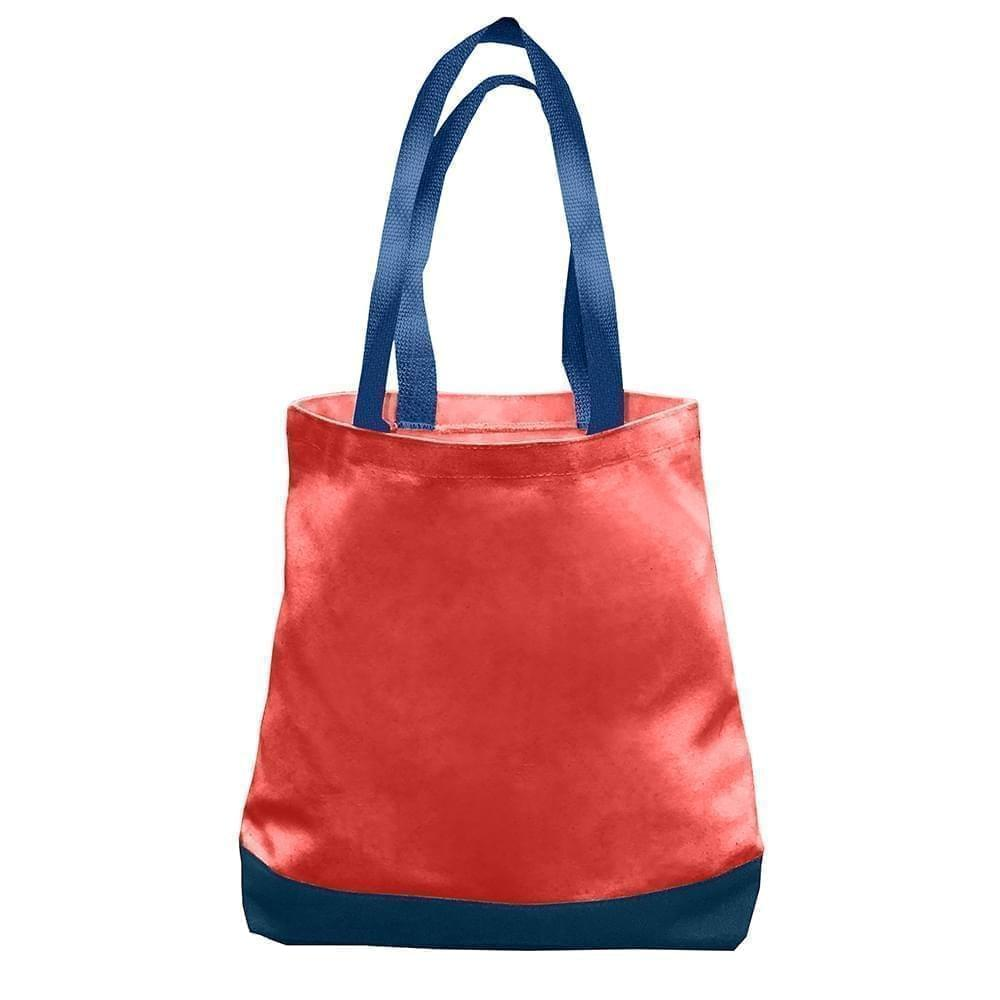 USA Made Duck Canvas Promo Boat Totes, Red-Navy, 7011000-AEZ