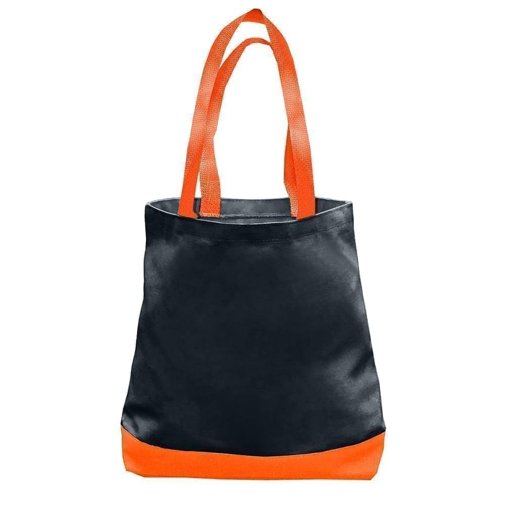 USA Made Duck Canvas Promo Boat Totes, Black-Orange, 7011000-AH0