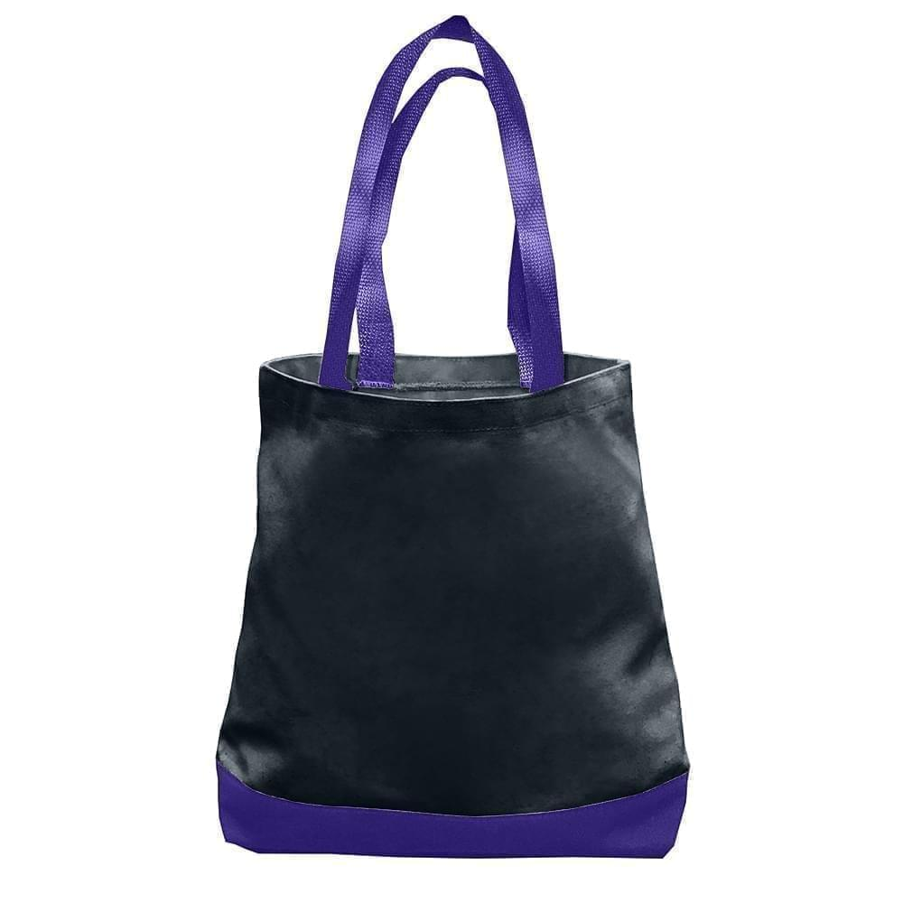 USA Made Duck Canvas Promo Boat Totes, Black-Purple, 7011000-AH1