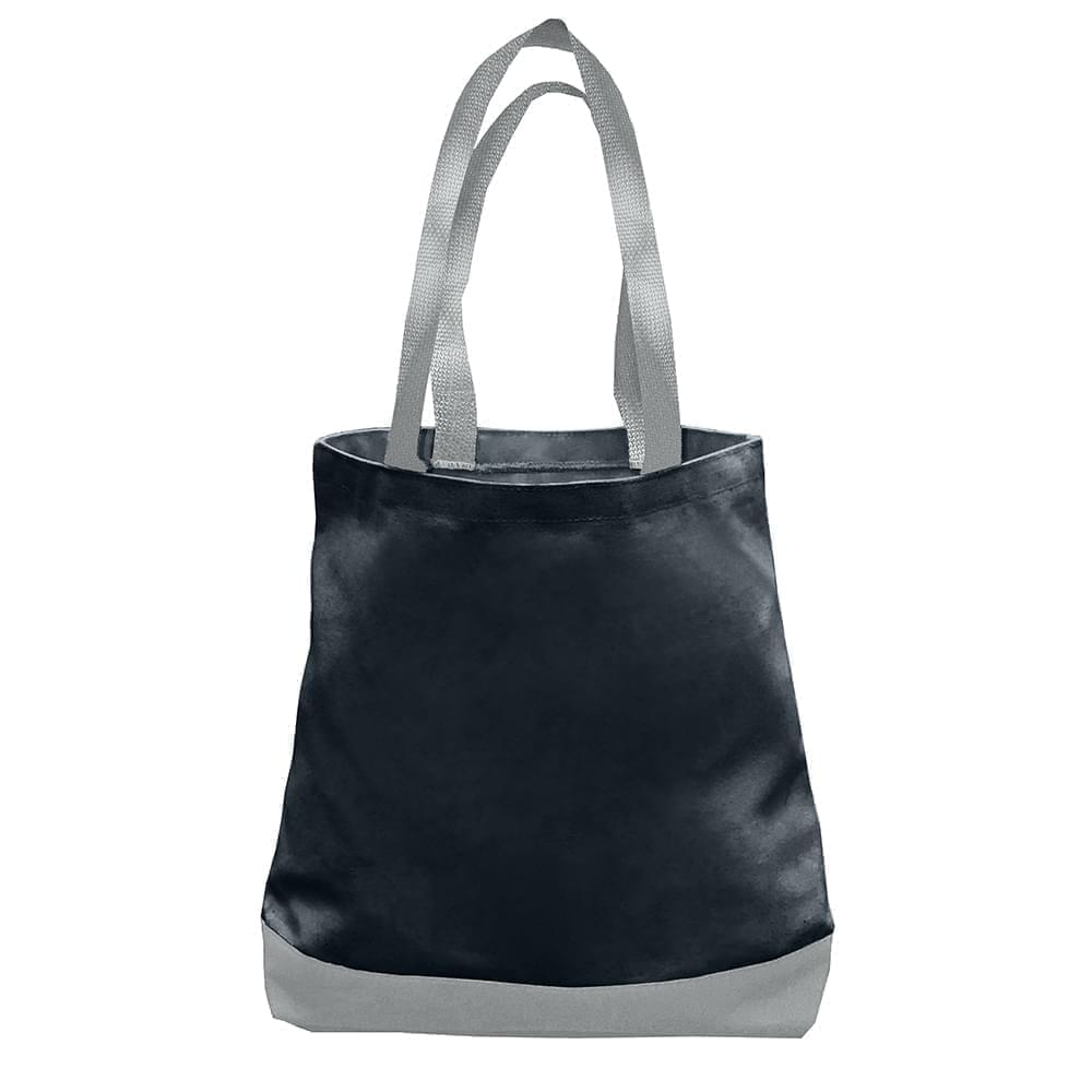 USA Made Duck Canvas Promo Boat Totes, Black-Gray, 7011000-AHU