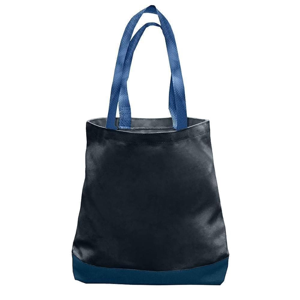 USA Made Duck Canvas Promo Boat Totes, Black-Navy, 7011000-AHZ