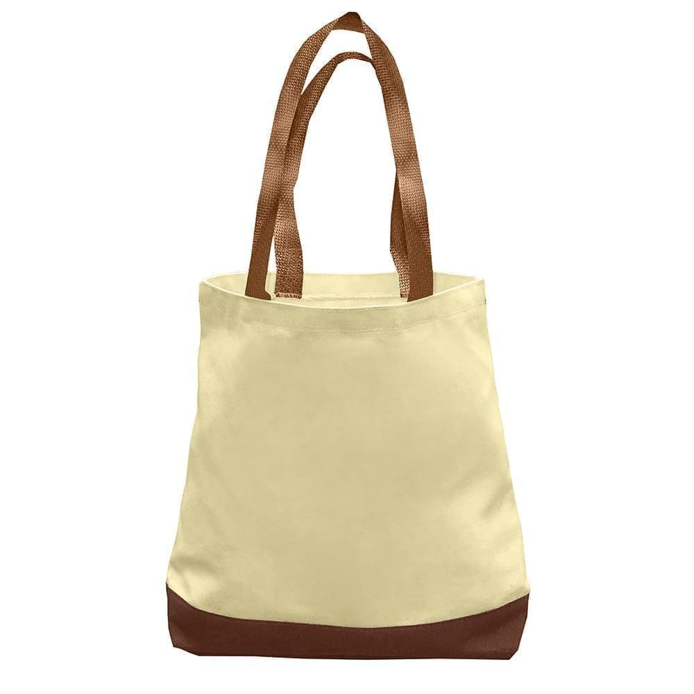 USA Made Duck Canvas Promo Boat Totes, Natural-Brown, 7011000-AKS