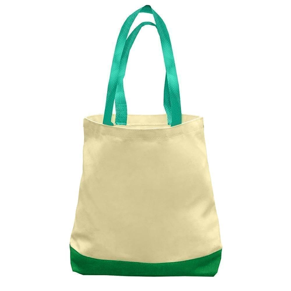 USA Made Duck Canvas Promo Boat Totes, Natural-Kelly, 7011000-AKW