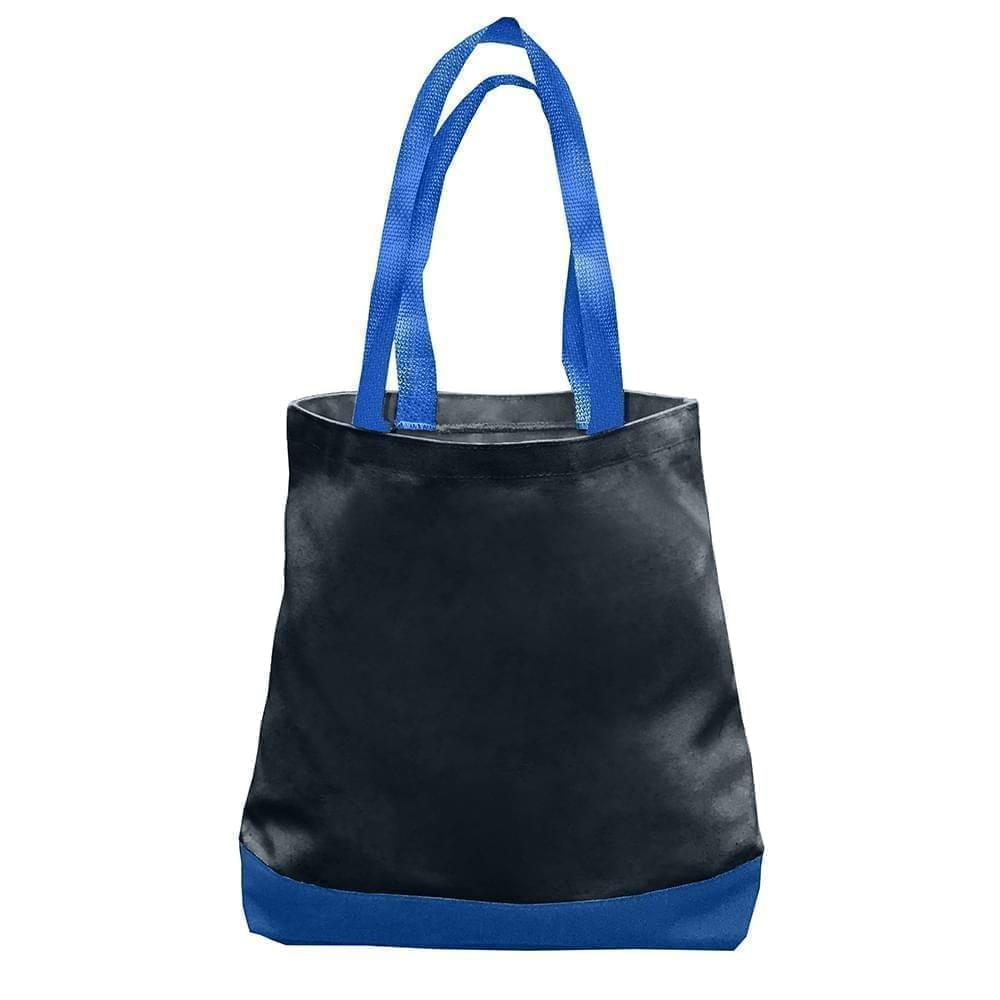USA Made Nylon Poly Promo Boat Totes, Black-Royal, 7011000-AO3