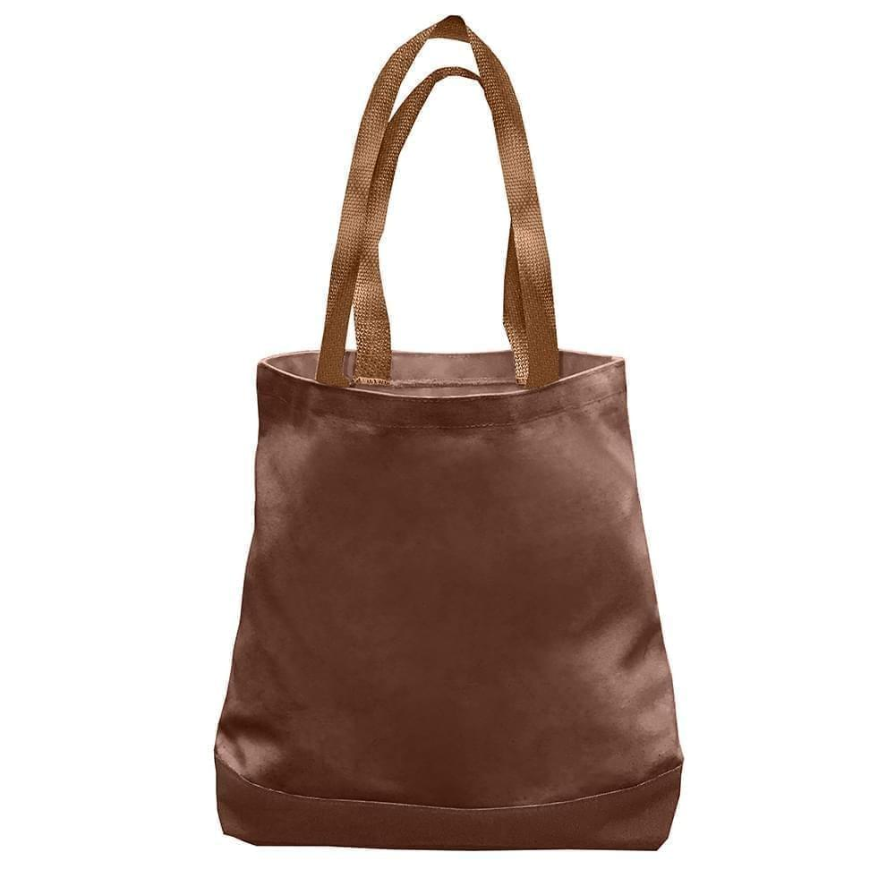 USA Made Nylon Poly Promo Boat Totes, Brown-Brown, 7011000-APS