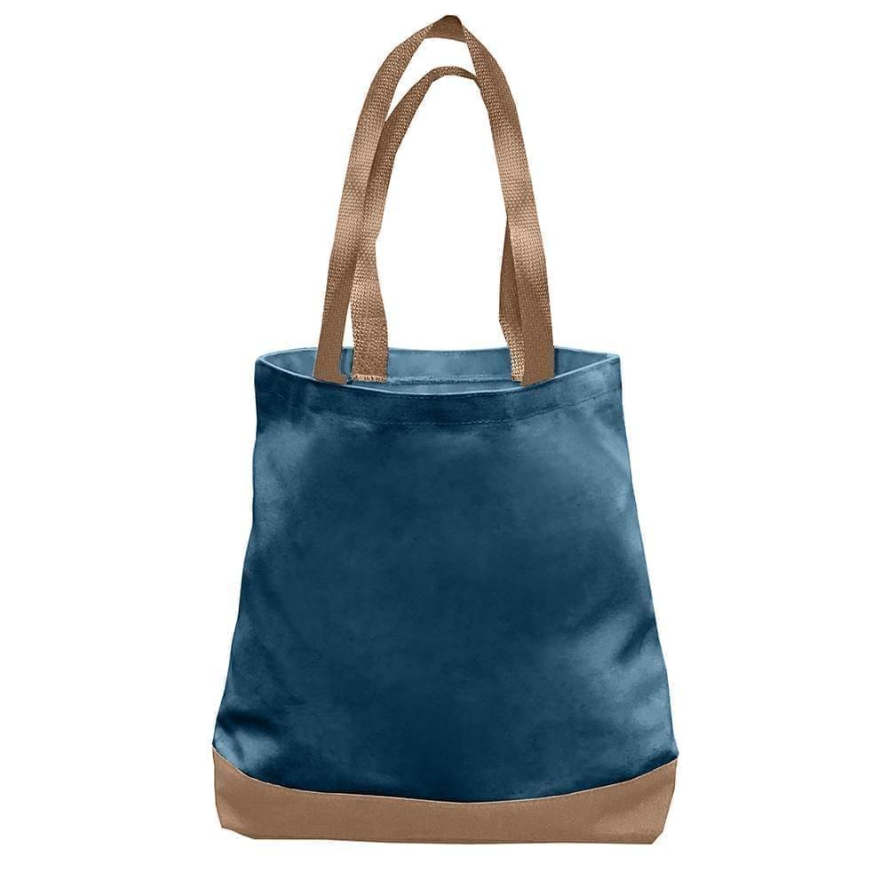 USA Made Nylon Poly Promo Boat Totes, Navy-Bronze, 7011000-AVO