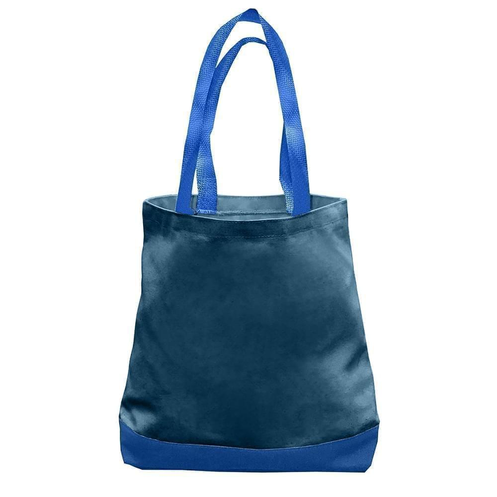 USA Made Nylon Poly Promo Boat Totes, Navy-Royal, 7011000-AW3
