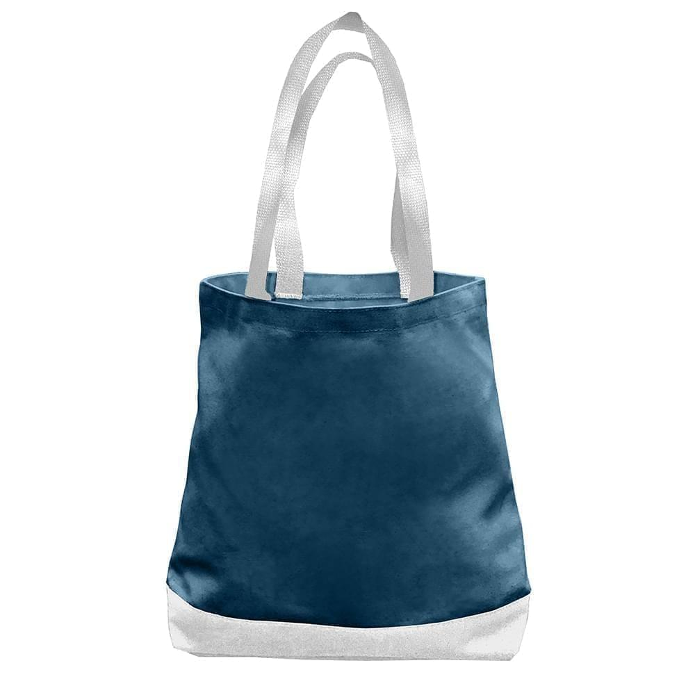 USA Made Nylon Poly Promo Boat Totes, Navy-White, 7011000-AW4
