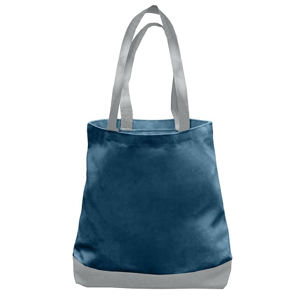 USA Made Nylon Poly Promo Boat Totes, Navy-Gray, 7011000-AWU