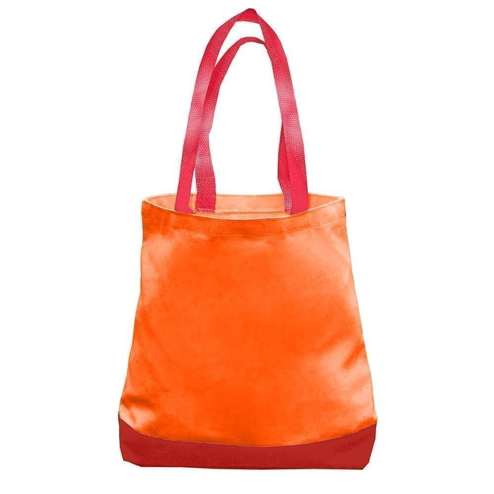 USA Made Nylon Poly Promo Boat Totes, Orange-Red, 7011000-AX2
