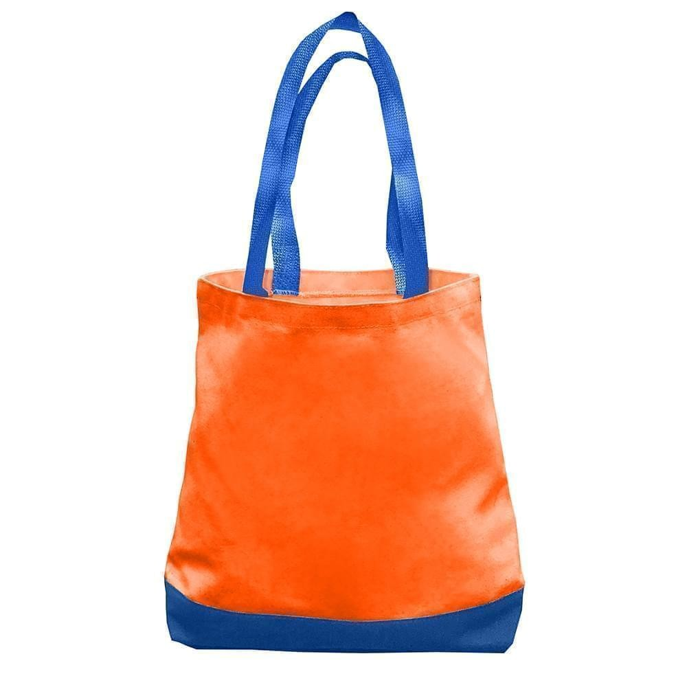 USA Made Nylon Poly Promo Boat Totes, Orange-Royal, 7011000-AX3