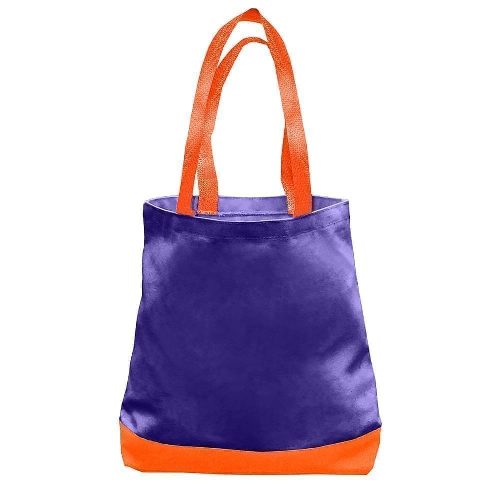 USA Made Nylon Poly Promo Boat Totes, Purple-Orange, 7011000-AY0