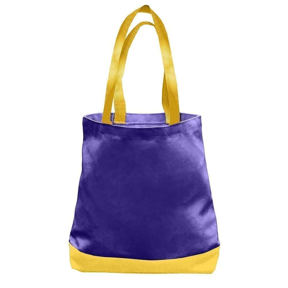 USA Made Nylon Poly Promo Boat Totes, Purple-Gold, 7011000-AY5