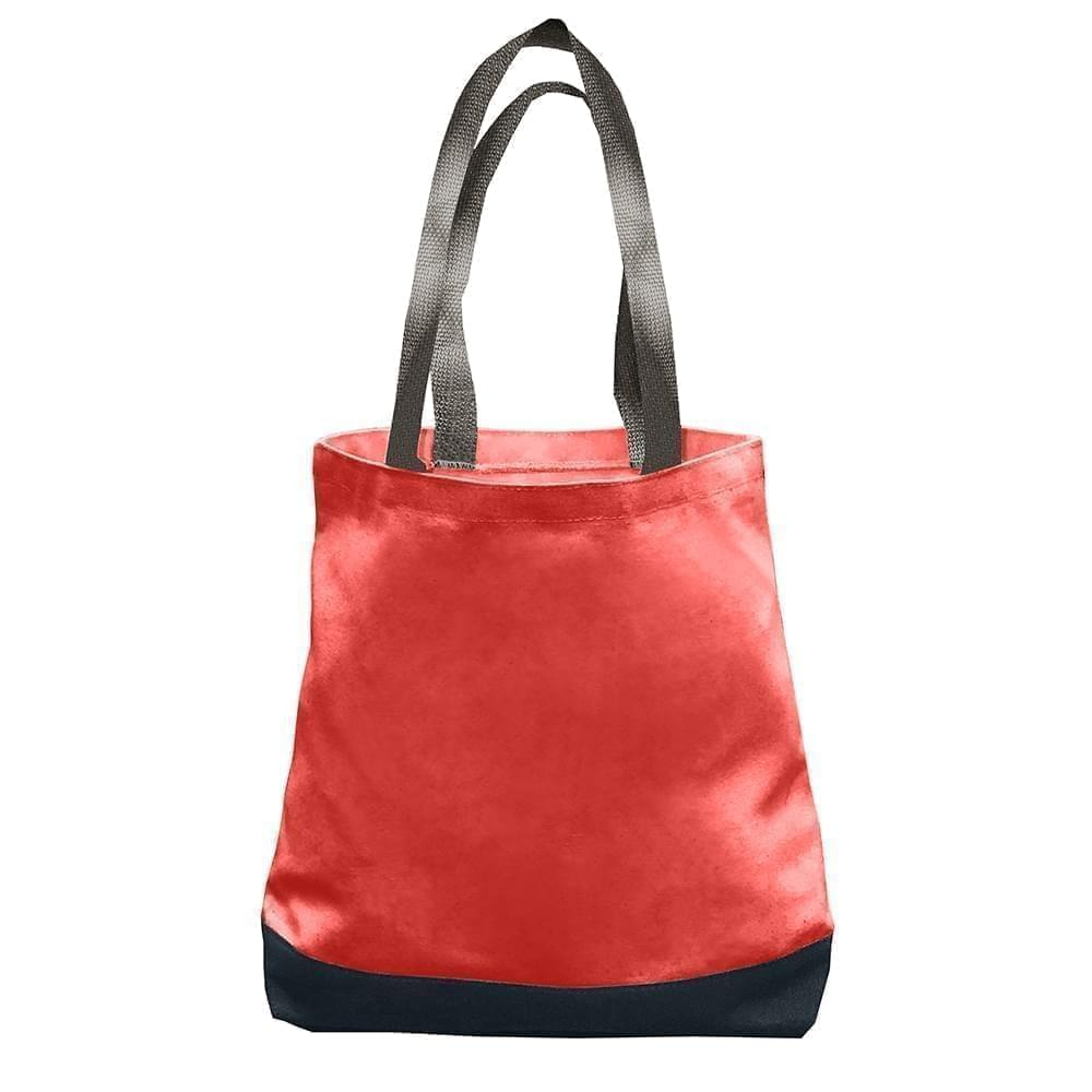 USA Made Nylon Poly Promo Boat Totes, Red-Black, 7011000-AZR