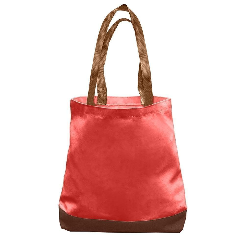 USA Made Nylon Poly Promo Boat Totes, Red-Brown, 7011000-AZS
