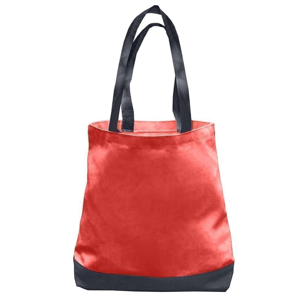 USA Made Nylon Poly Promo Boat Totes, Red-Graphite, 7011000-AZT
