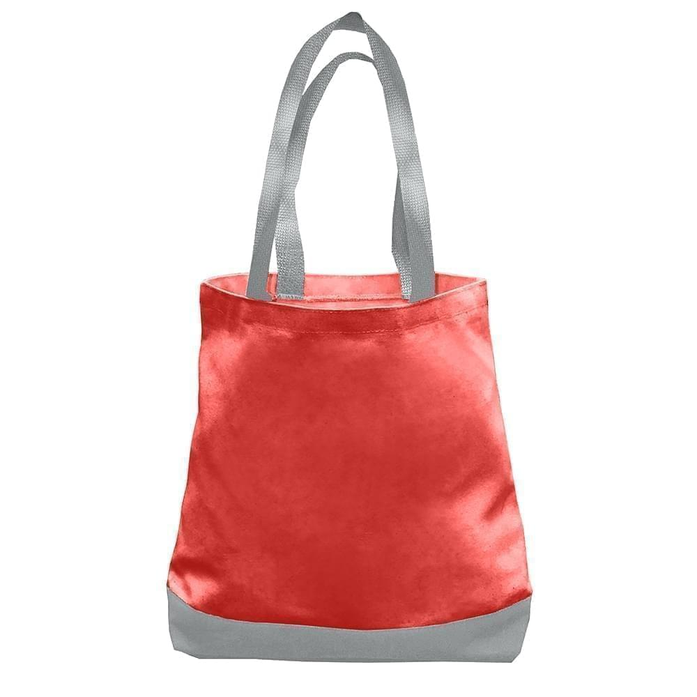 USA Made Nylon Poly Promo Boat Totes, Red-Gray, 7011000-AZU