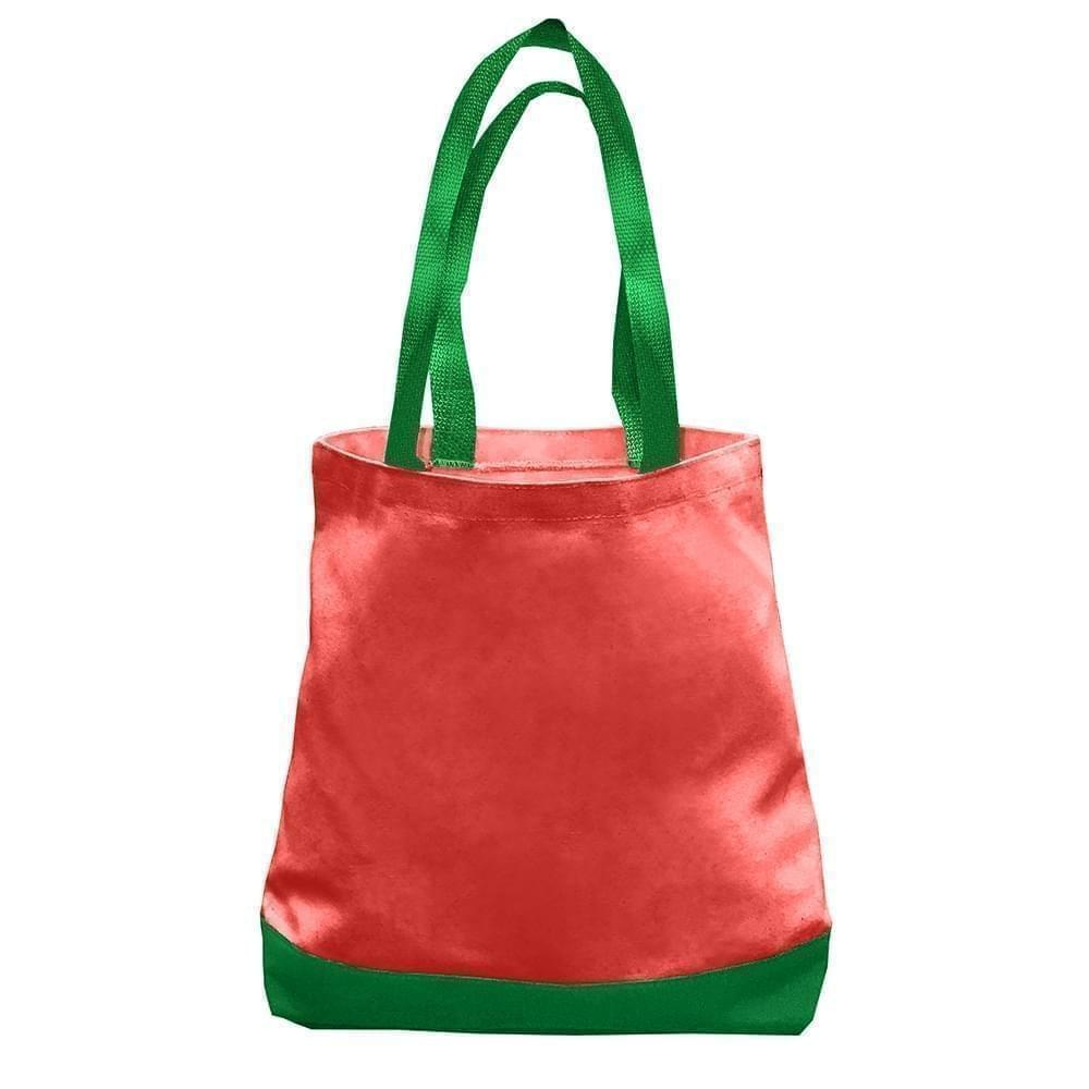 USA Made Nylon Poly Promo Boat Totes, Red-Kelly, 7011000-AZW