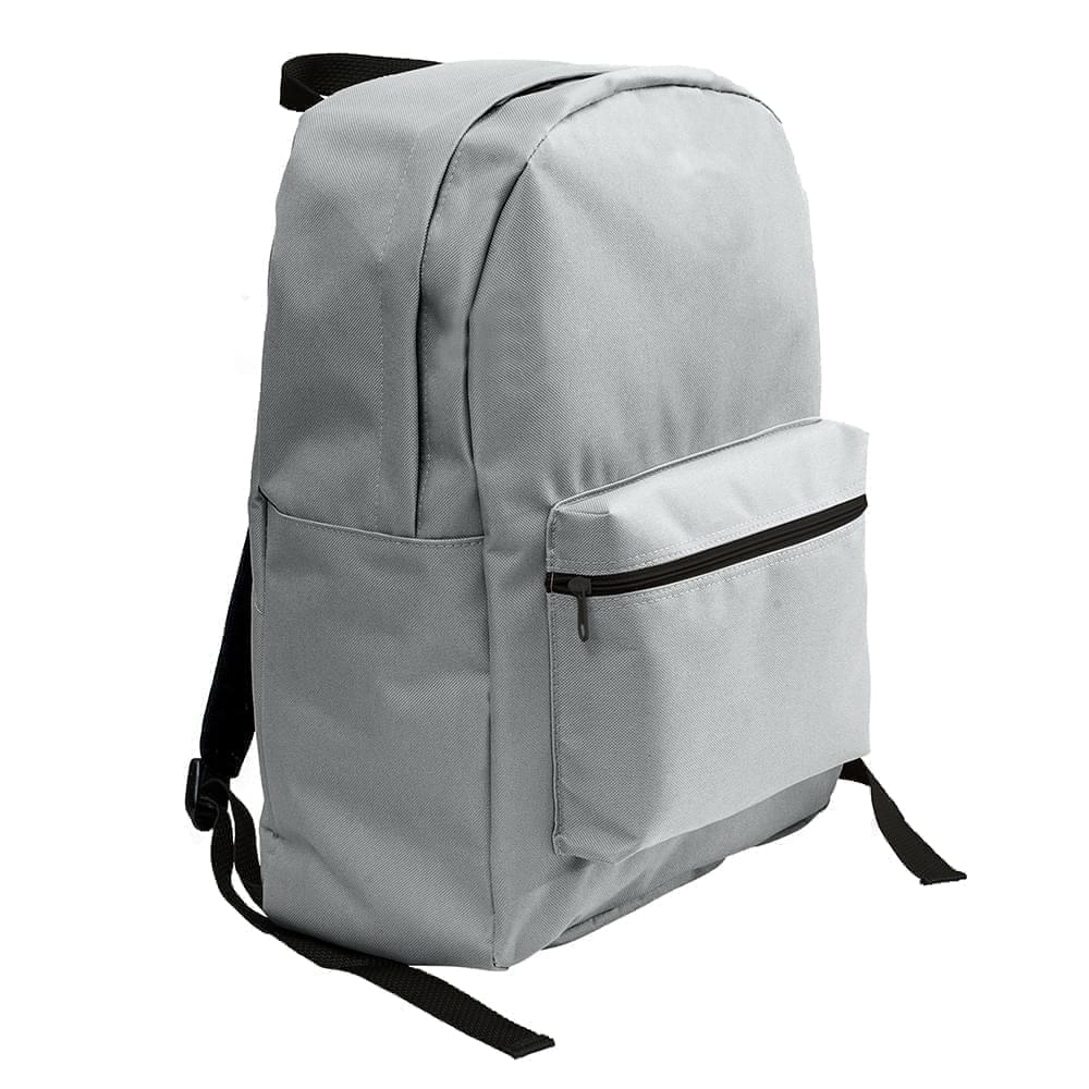 USA Made Nylon Poly Standard Backpacks, Gray-Gray, 8000-A1N