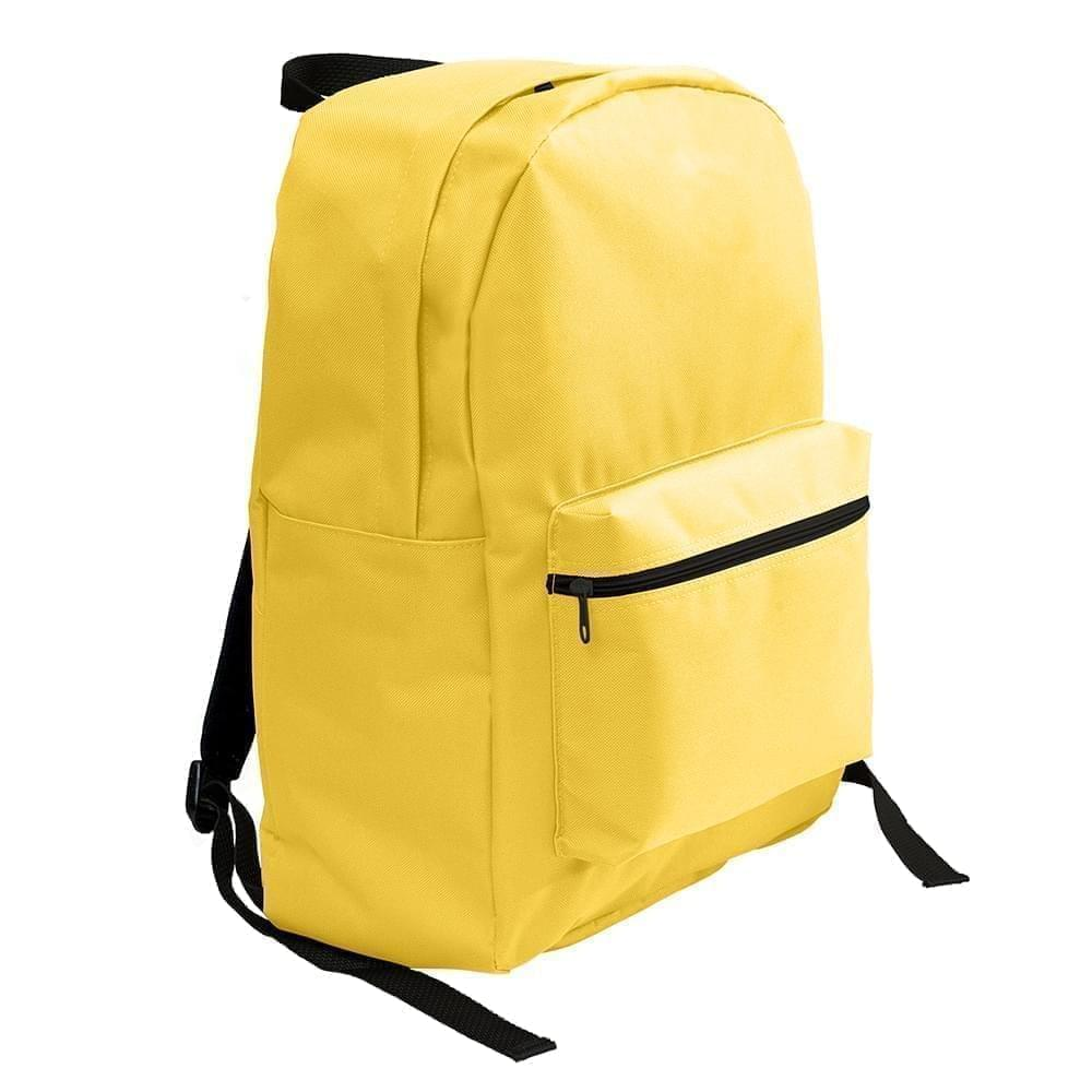 USA Made Nylon Poly Standard Backpacks, Gold-Gold, 8000-A4Q