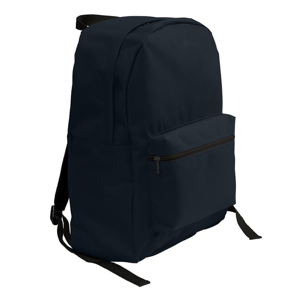 USA Made Nylon Poly Standard Backpacks, Black-Black, 8000-AOC