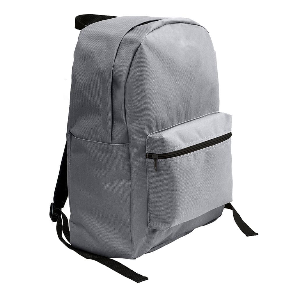 USA Made Nylon Poly Standard Backpacks, Graphite-Graphite, 8000-ARF
