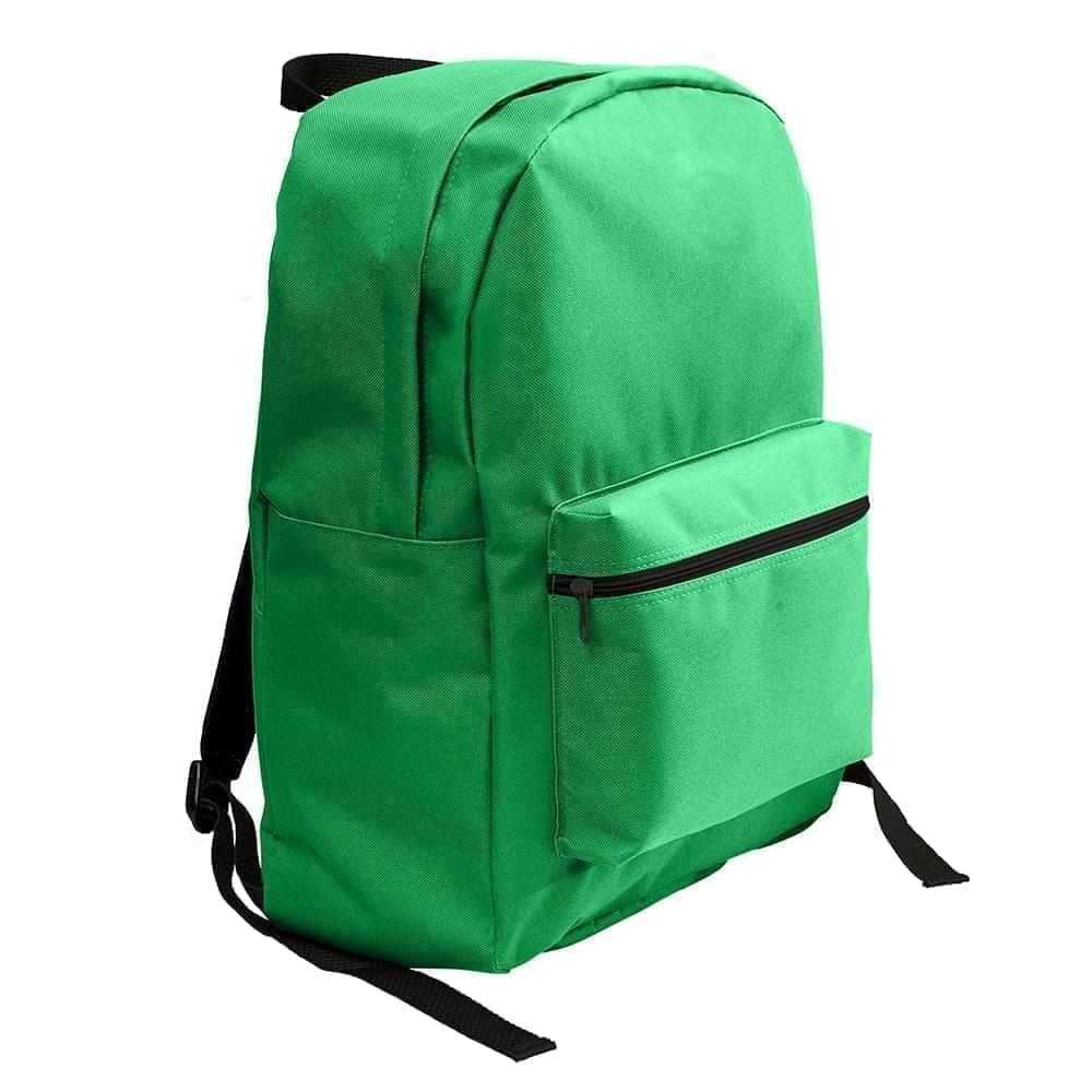 USA Made Nylon Poly Standard Backpacks, Kelly-Kelly, 8000-ATH