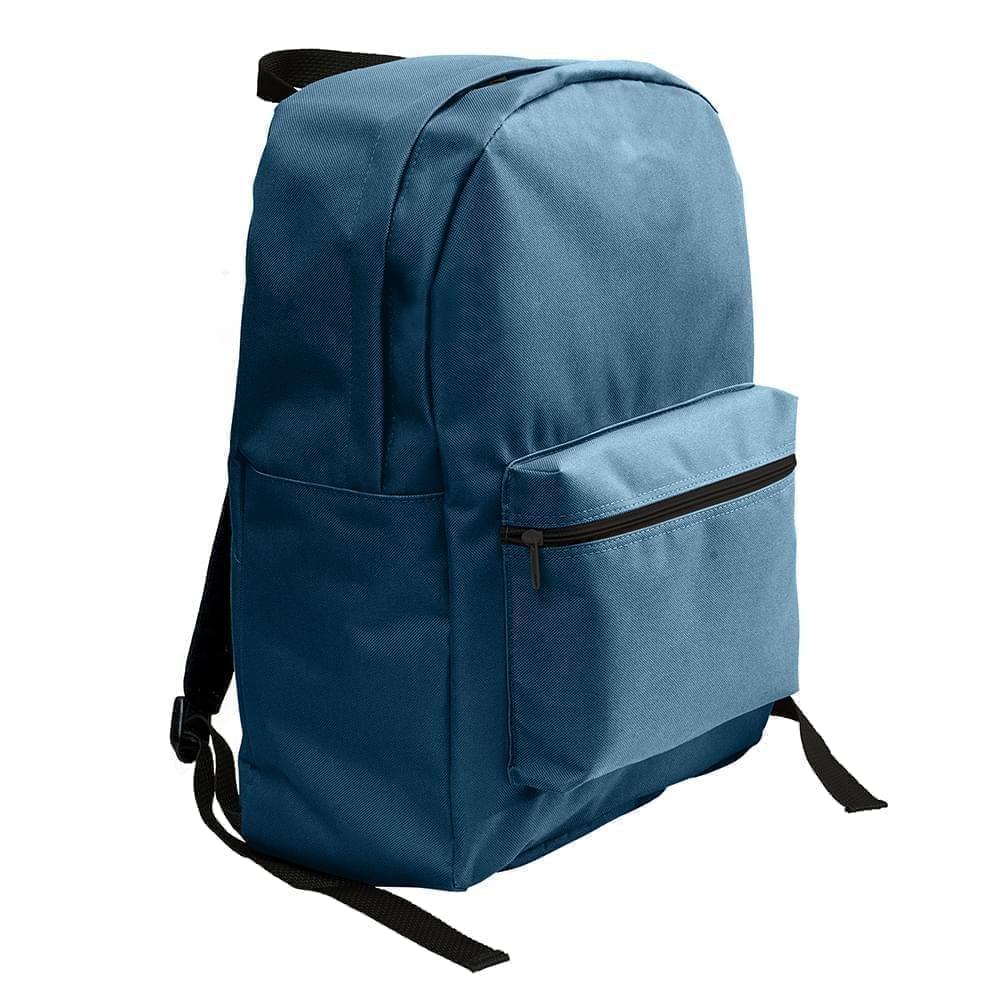 USA Made Nylon Poly Standard Backpacks, Navy-Navy, 8000-AWI