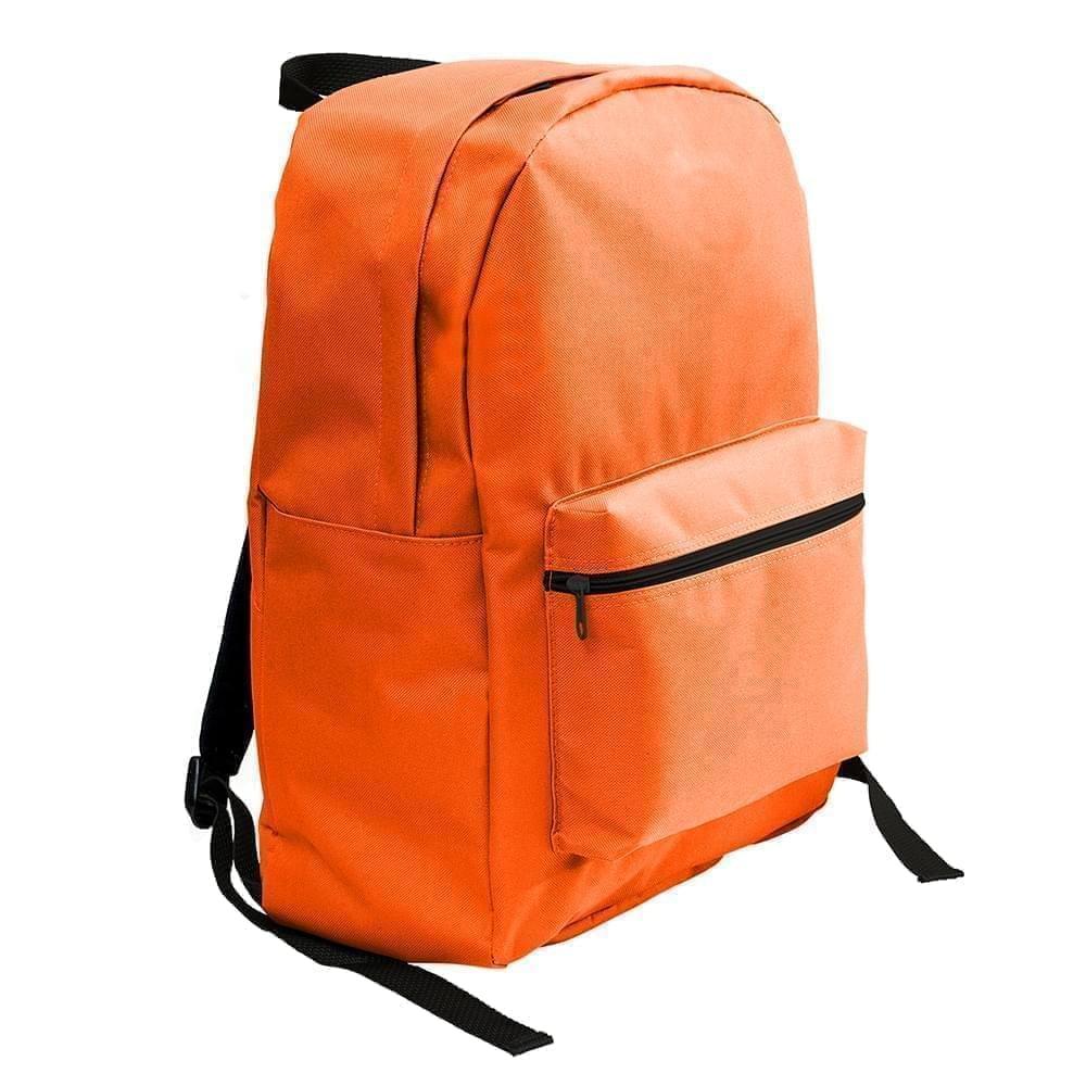 USA Made Nylon Poly Standard Backpacks, Orange-Orange, 8000-AXJ
