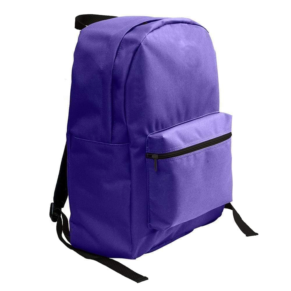 USA Made Nylon Poly Standard Backpacks, Purple-Purple, 8000-AYK