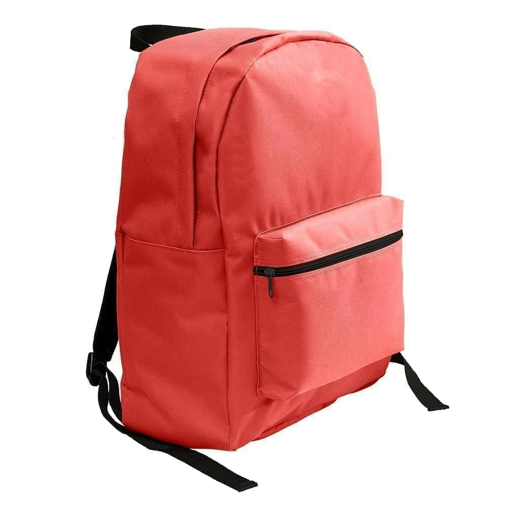 USA Made Nylon Poly Standard Backpacks, Red-Red, 8000-AZL