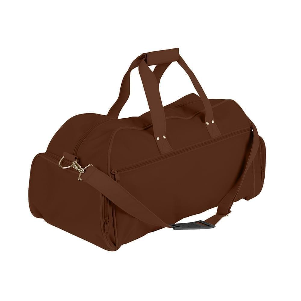 USA Made Nylon Poly Weekender Duffles, Brown-Brown, 8001017-APD