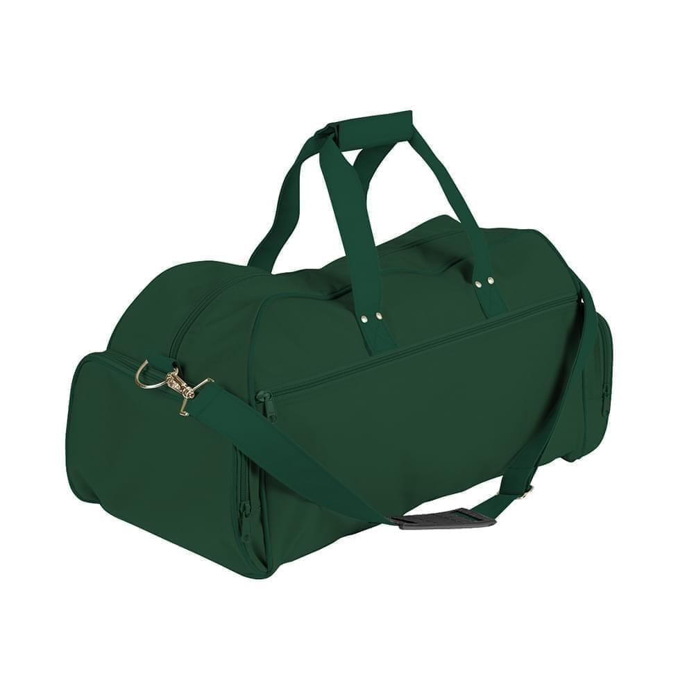 USA Made Nylon Poly Weekender Duffles, Hunter Green-Hunter Green, 8001017-ASV