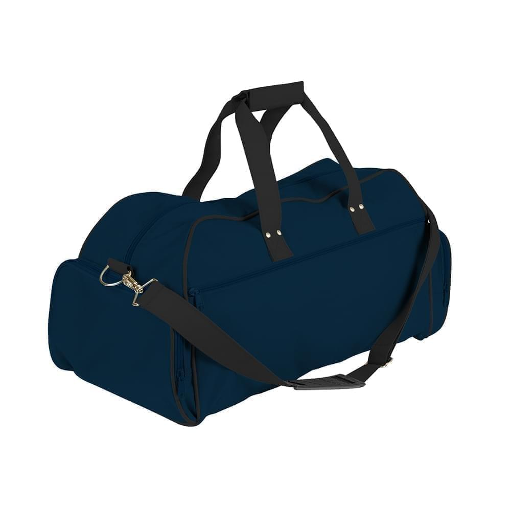 USA Made Nylon Poly Weekender Duffles, Navy-Black, 8001017-AWC
