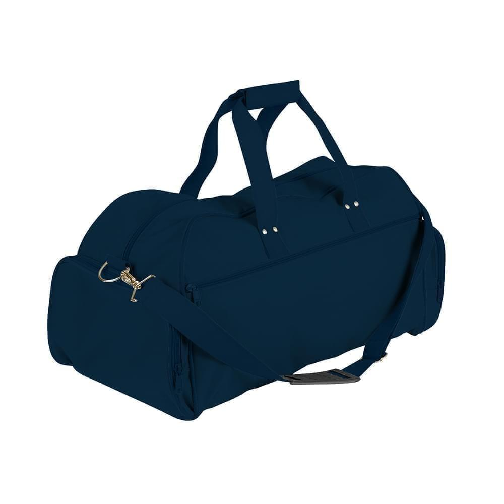 USA Made Nylon Poly Weekender Duffles, Navy-Navy, 8001017-AWI