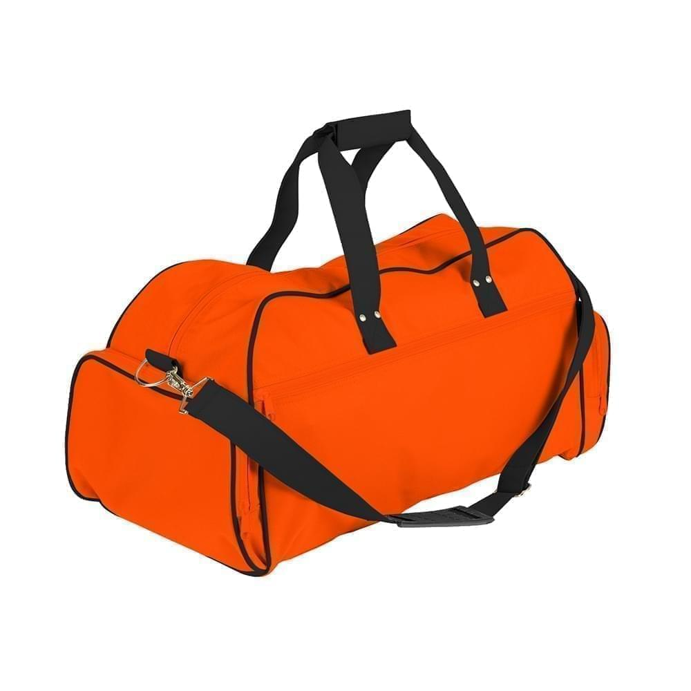 USA Made Nylon Poly Weekender Duffles, Orange-Black, 8001017-AXC