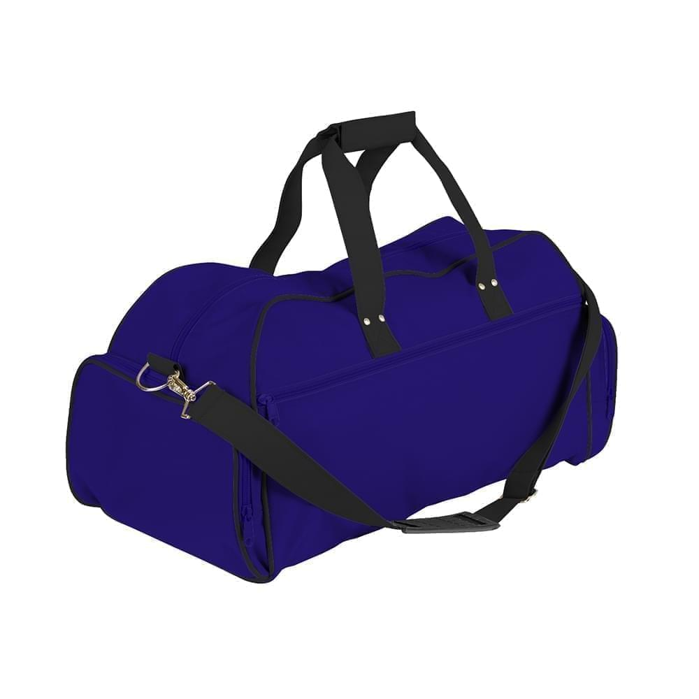 USA Made Nylon Poly Weekender Duffles, Purple-Black, 8001017-AYC