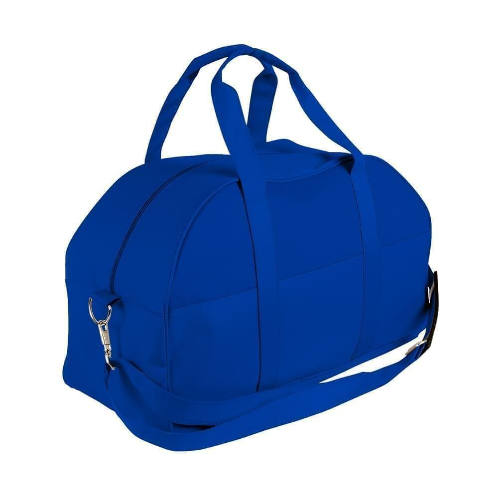 USA Made Nylon Poly Overnight Duffel Bags, Royal Blue-Royal Blue, 8001306-A03