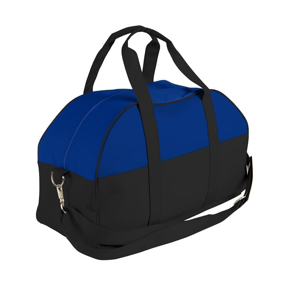USA Made Nylon Poly Overnight Duffel Bags, Royal Blue-Black, 8001306-A0R