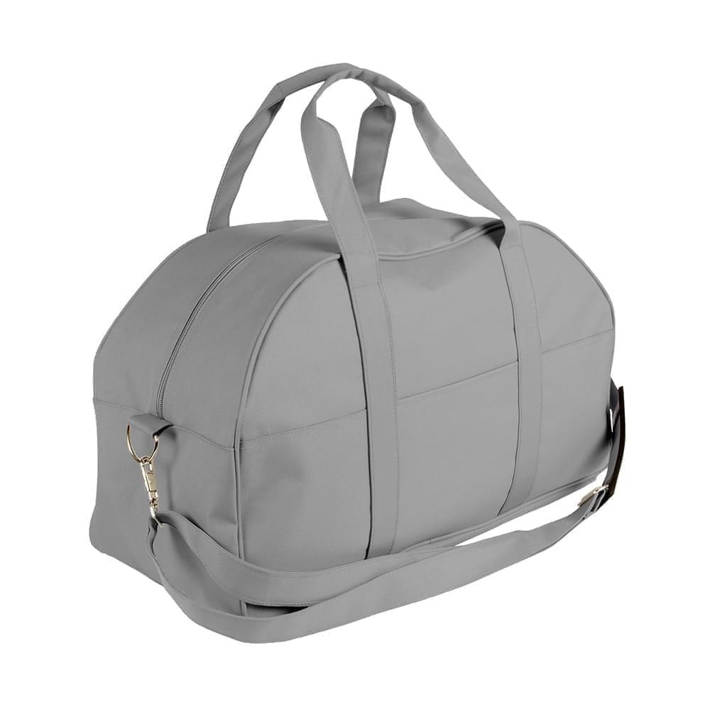 USA Made Nylon Poly Overnight Duffel Bags, Grey-Grey, 8001306-A1U