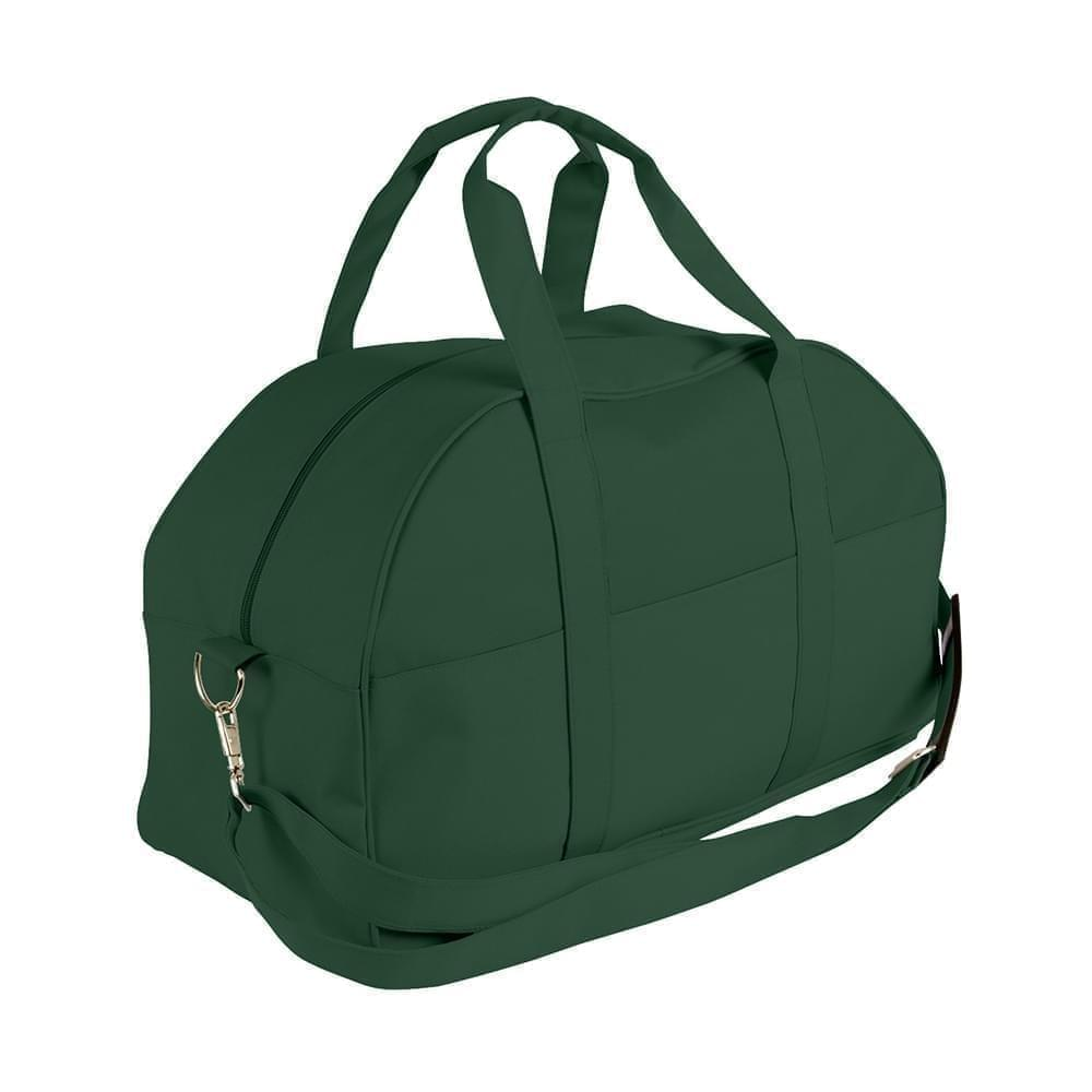 USA Made Nylon Poly Overnight Duffel Bags, Hunter Green-Hunter Green, 8001306-ASV