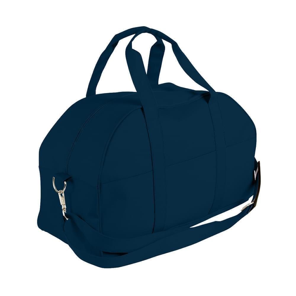 USA Made Nylon Poly Overnight Duffel Bags, Navy-Navy, 8001306-AWZ