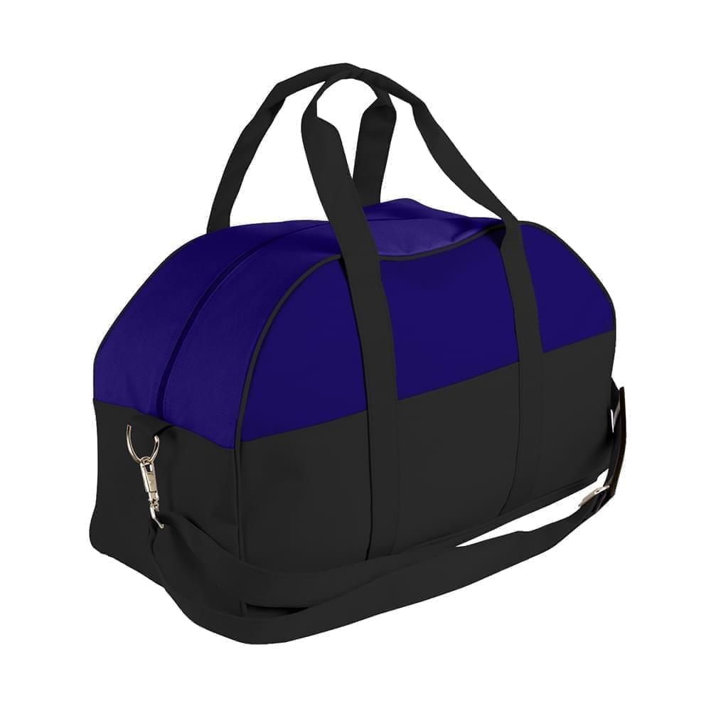 USA Made Nylon Poly Overnight Duffel Bags, Purple-Black, 8001306-AYR