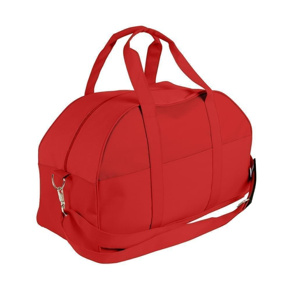 USA Made Nylon Poly Overnight Duffel Bags, Red-Red, 8001306-AZ2